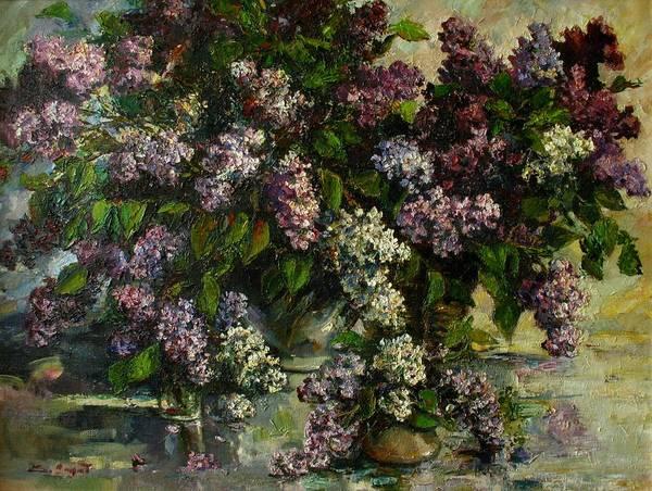 Painting - Lilacs by Tigran Ghulyan