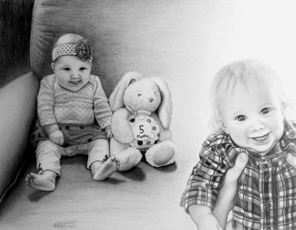 Drawing - Lilah And Evan by Danielle R T Haney