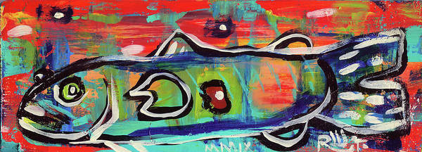Painting - Lil'funky Folk Fish Number Seventeen by Robert Wolverton Jr