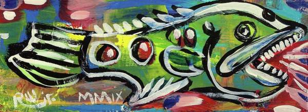 Lil'funky Folk Fish Number Thirteen Art Print