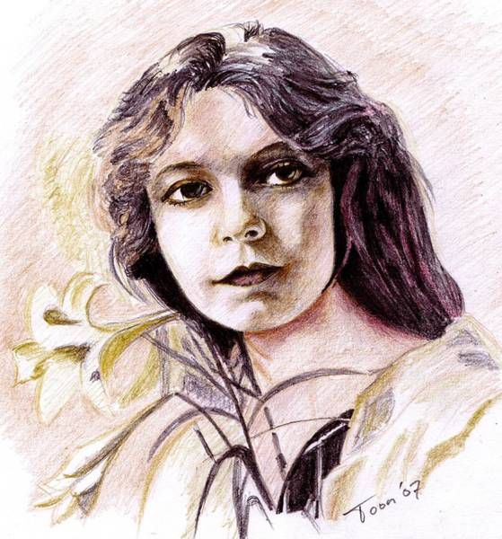 Drawing - Lilian Gish by Toon De Zwart