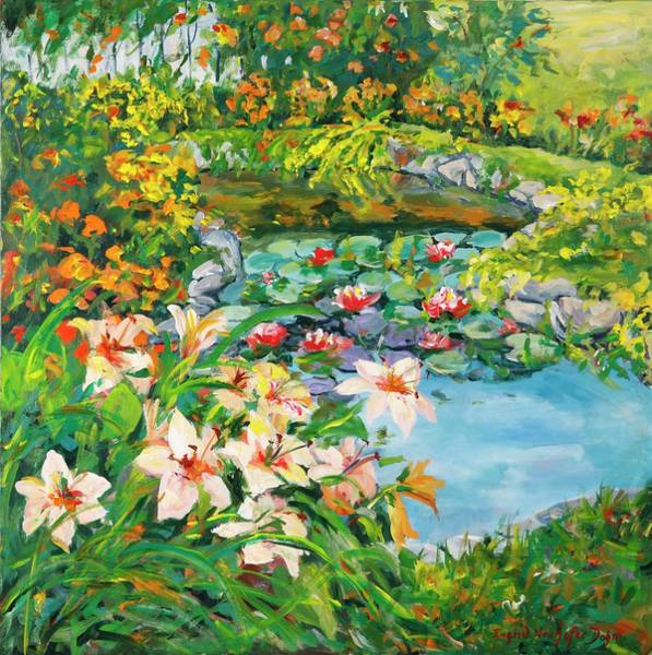 Painting - Lilies Abound by Ingrid Dohm