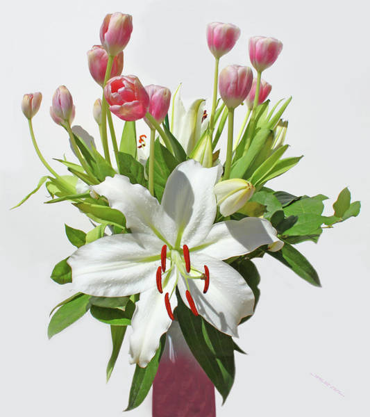 Photograph - Lilies  And  Tulips by Carl Deaville