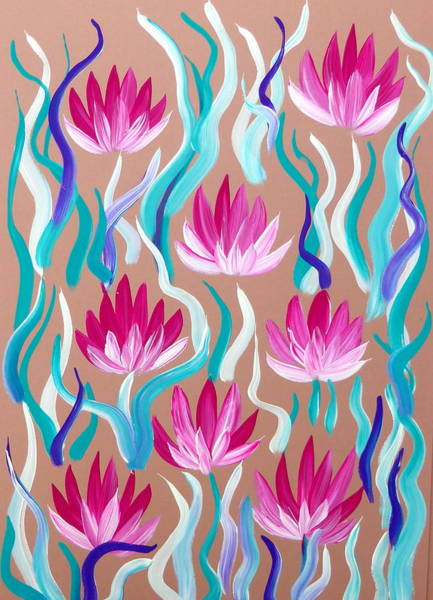 Framing Painting - Lilies by Cathy Jacobs