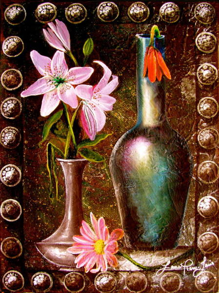 Wall Art - Painting - Lilies by Laura Pierre-Louis
