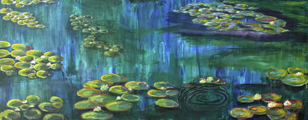 Painting - Lilies To Pine Pond by Christine Dekkers