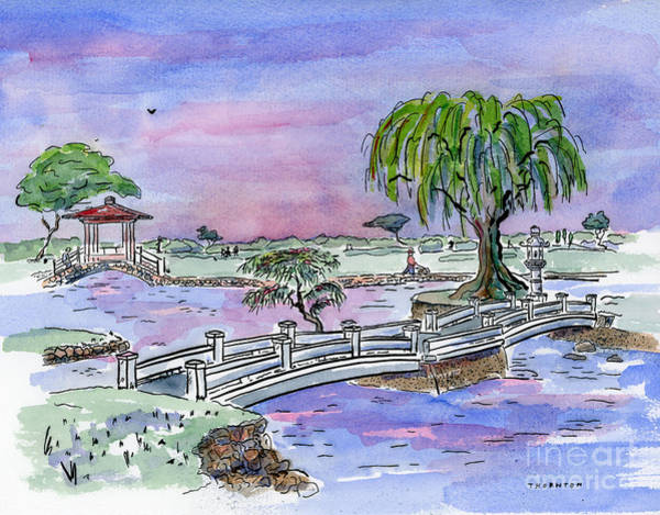 Painting - Liliuokalani Park Hilo Hawaii by Diane Thornton