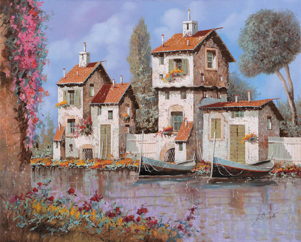 Village Painting - Lilla by Guido Borelli