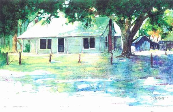 Fencepost Painting - Lilley's Farm by Belinda Hamilton