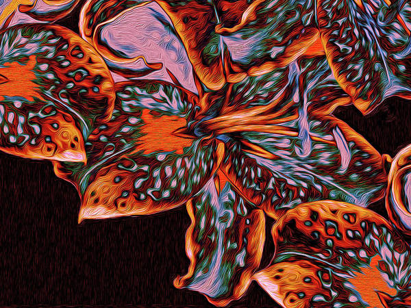 Digital Art - Lillies 23 by Lynda Lehmann