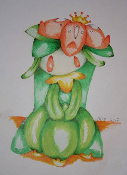 Pokemon Drawing - Lilligant  by Brianne Garofalo