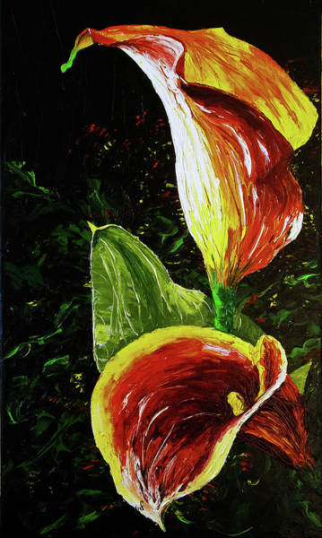 Developed Painting - Lilly by Maria Woithofer