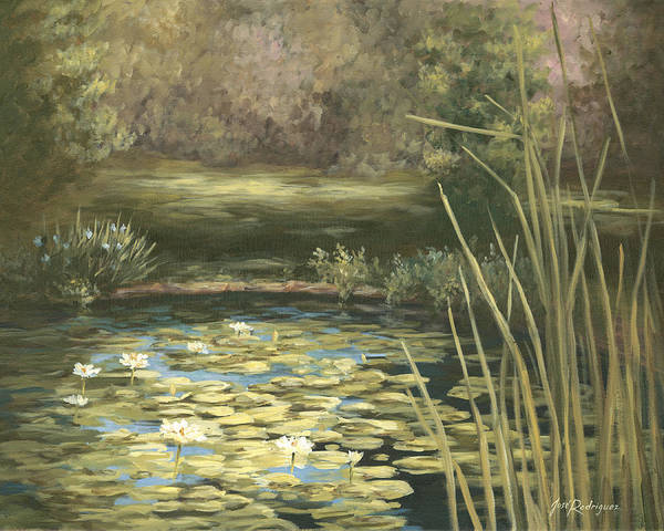 Painting - Lilly Pond by Jose Rodriguez