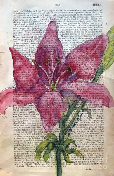 Wall Art - Painting - Lily Dressed In Pink by Maria Hunt