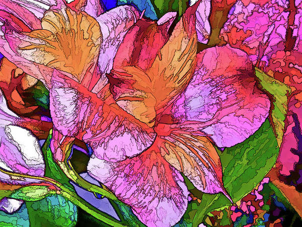 Mixed Media - Lily Duo 19 by Lynda Lehmann