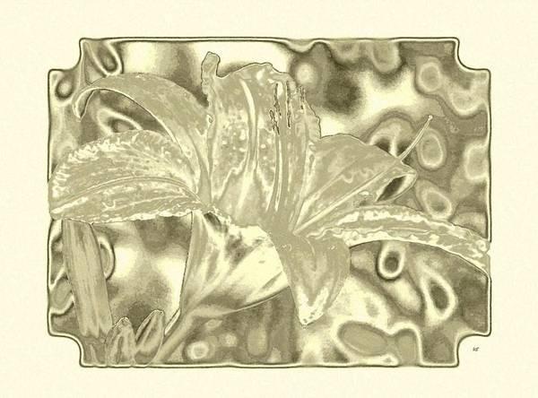 Wall Art - Digital Art - Lily Elegance 4 by Will Borden