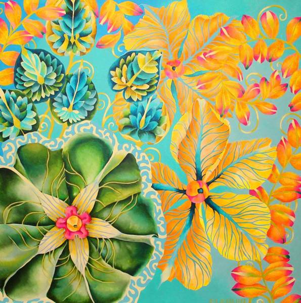 Wall Art - Painting - Lily by Elizabeth Elequin