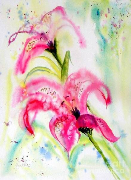Painting - Lily Folly by Diane Kirk