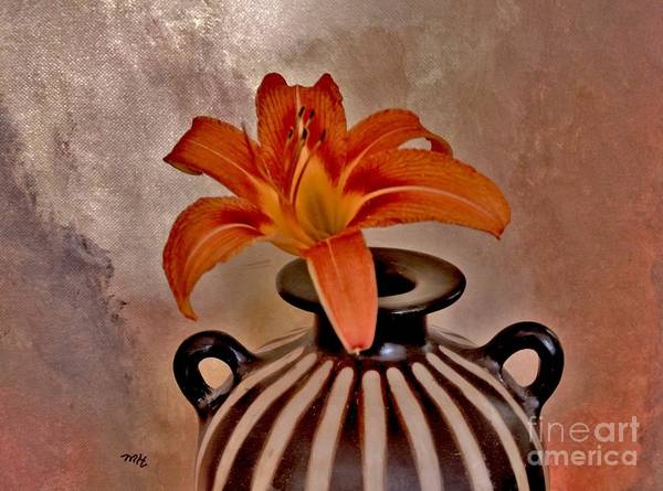 Tigerlily Wall Art - Photograph - Lily In A Peruvian Vase by Marsha Heiken