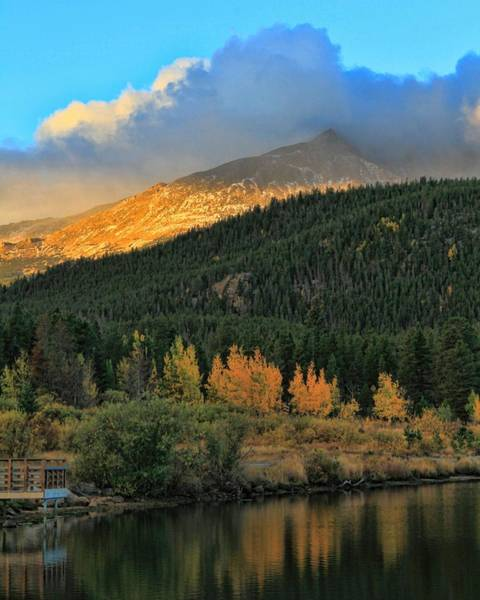 Photograph - Lily Lake Colorado Sunrise by Dan Sproul
