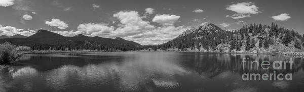 Photograph - Lily Lake Panorama Bw  by Michael Ver Sprill