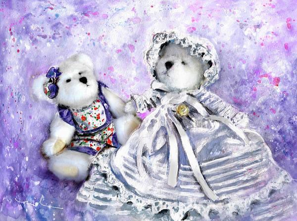 Painting - Lily Lavender De Boomerann And Christine De Lafontaine by Miki De Goodaboom