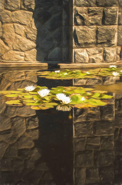 Photograph - Zen Reflections - Digitally Painted by Marilyn Wilson