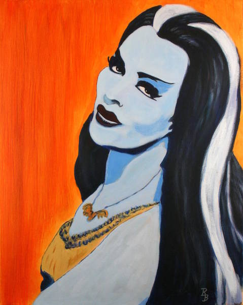Painting - Lily Munster - Yvonne De Carlo by Bob Baker