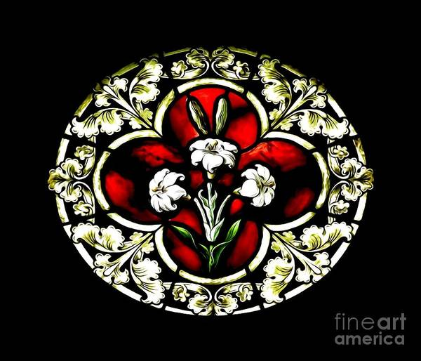 Photograph - Lily Of Purity Stained Glass Window Soft Effect by Rose Santuci-Sofranko