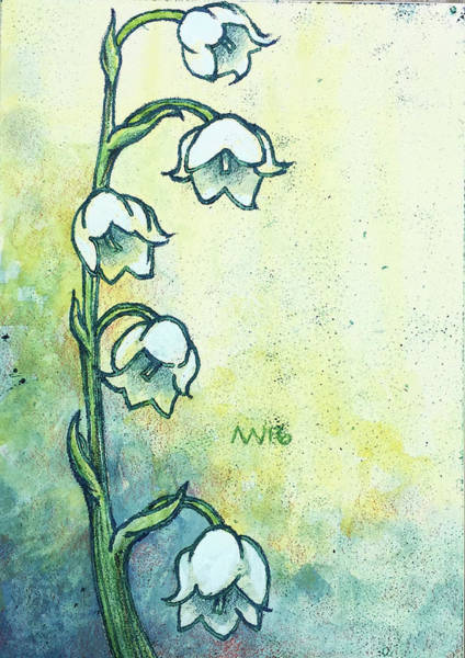 Lilies Of The Valley Mixed Media - Lily Of The Valley by AnneMarie Welsh
