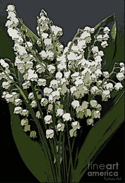 Wall Art - Digital Art - Lily Of The Valley by Dragica Micki Fortuna