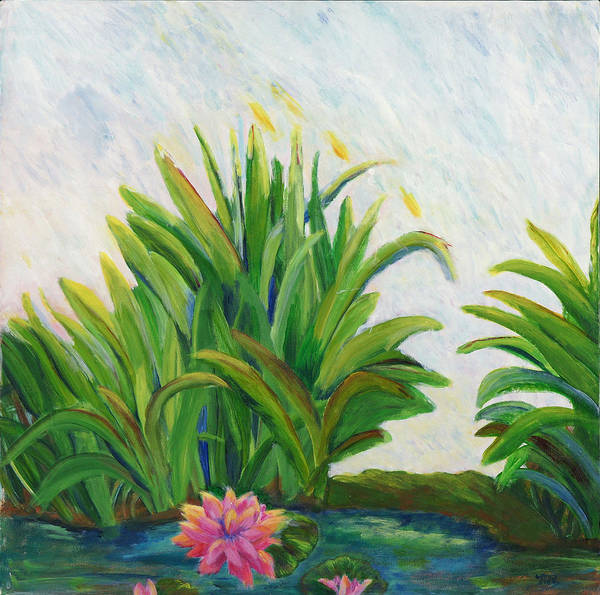 Painting - Lily On The Pond by Marilyn Rodriguez