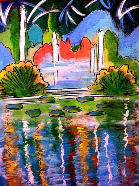Painting - Lily Pond 2 by Nikki Dalton