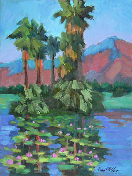 Wall Art - Painting - Lily Pond At La Quinta Estates by Diane McClary