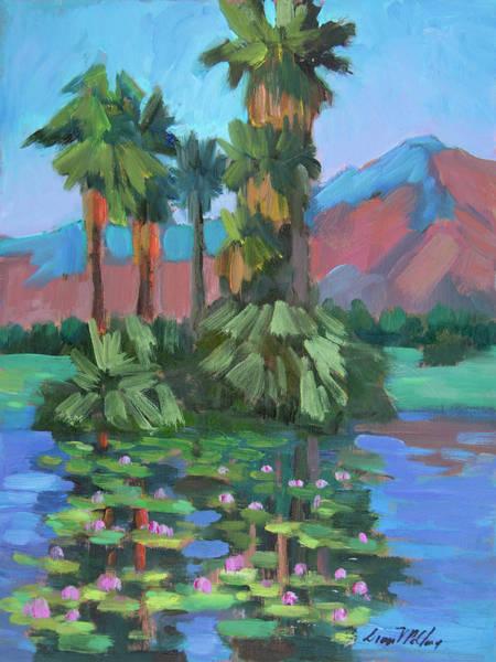 La Quinta Wall Art - Painting - Lily Pond At La Quinta Estates by Diane McClary