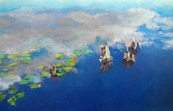 Colgate Wall Art - Pastel - Lily Pond by Diana Colgate