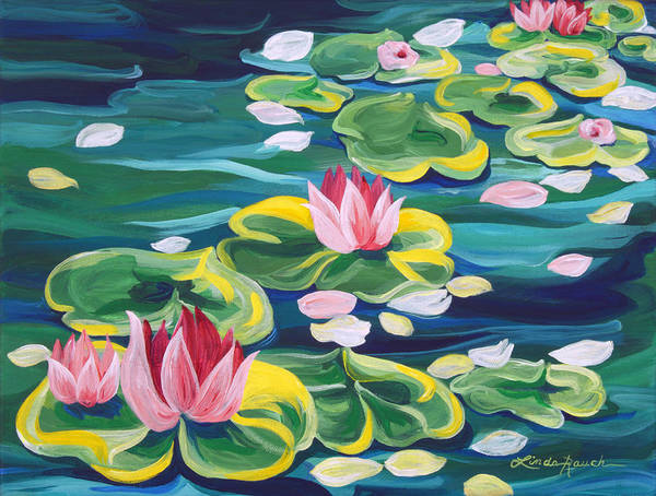Painting - Lily Pond by Linda Rauch