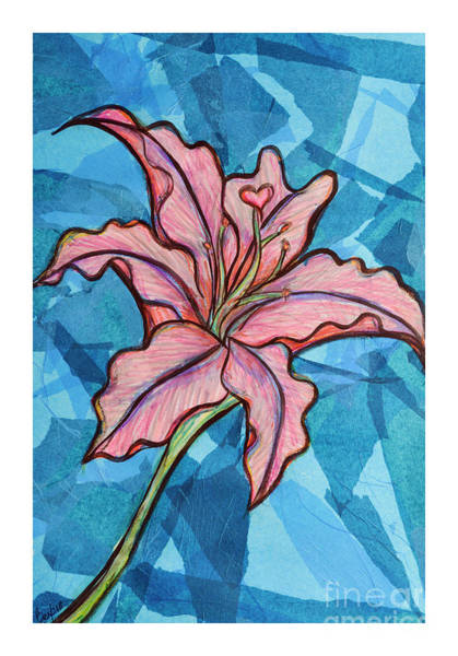 Easter Lily Mixed Media - Lily by Rebecca Weeks Howard