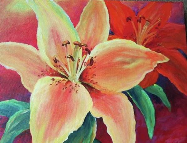 Painting - Lily by Sue Nelson