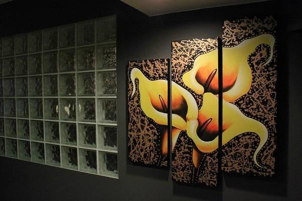 Mojo Painting - Lily V2 Triptych by Studio Mojo Artwork Canada