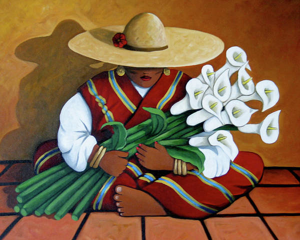 Painting - Lily Woman by Lance Headlee