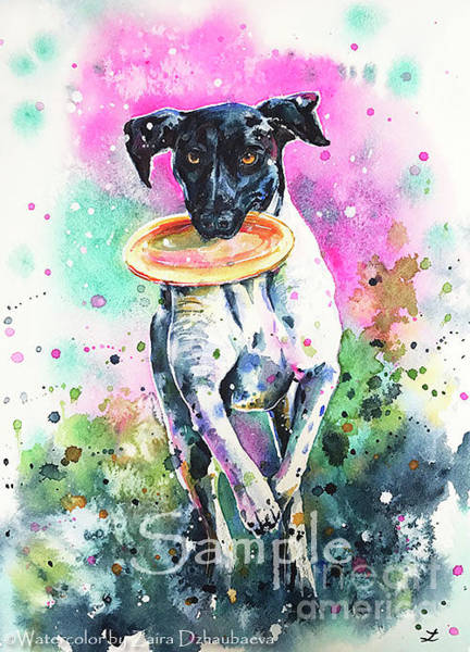 German Pointer Painting - Lily by Zaira Dzhaubaeva