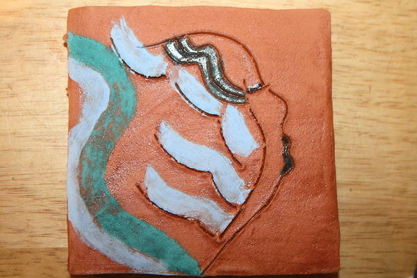 Ceramic Art - Lilyanne - Tile by Gloria Ssali