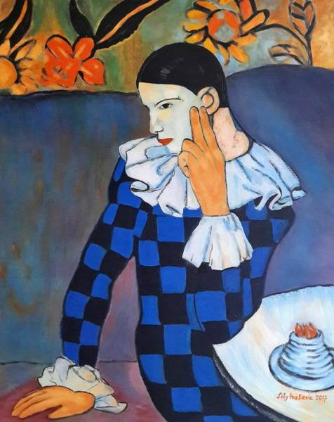 Similar Painting - Lily's Art Work After Picasso  by Ljiljana Prelevic