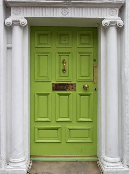 Photograph - Lime Green Door In Dublin by Georgia Fowler