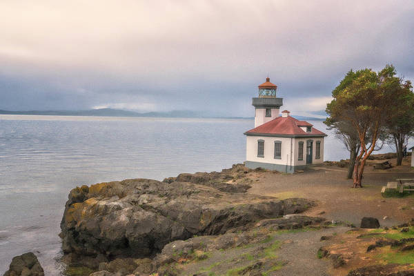 Photograph - Lime Kiln Point Lighthouse by Tom Singleton