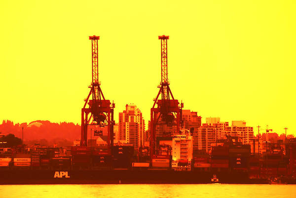 Port Of Vancouver Wall Art - Photograph - Lime Light On The Docks by Paul W Sharpe Aka Wizard of Wonders