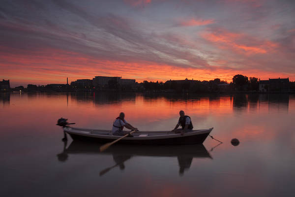 Angling Art Photograph - Limerick Boatmen by Dominick Moloney