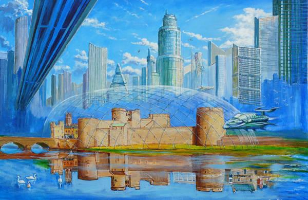 Shannon Falls Wall Art - Painting - Limerick Future Past by Tomas OMaoldomhnaigh