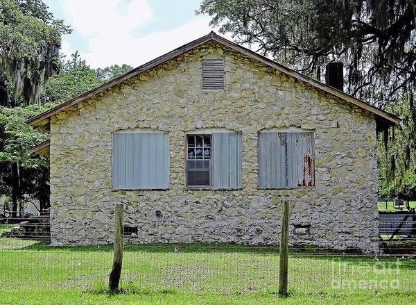 Photograph - Limestone Chert Building by D Hackett